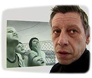 Nils Grossien at his gallery in Hamburg